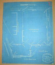 1910 Blueprint - Franklin Steel Works, Liquid Carbonic Co., Cambridge, MA