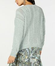 INC International Concepts Women's Green Cable-Knit Chenille Sweater Size XXL