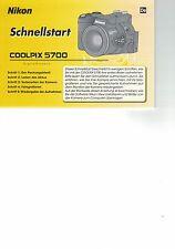 NIKON  Coolpix 5700 Coolpix5700  Schnellstartanleitung Deutsch