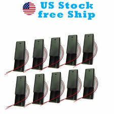 """10x Battery Box Holder for 2 AA On Off Switch lid 3V cells 6"""" Leads US Stock"""