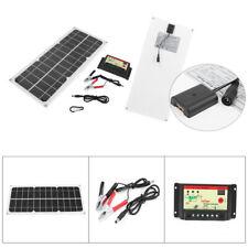 12V 10W Watt Solar Panel Controller Battery Charger Kit Semi Flexible New