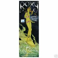 Vtg.2005 Roxy Woman/Girl Surfer Surfing Contest Surfboard Art Poster-San Onofre
