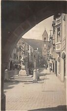 VIPITENO STERZING ITALY STREET VIEW THROUGH ARCH PHOTO POSTCARD c1910s