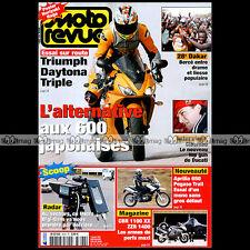MOTO REVUE N°3696 TRIUMPH DAYTONA 675 HONDA CBR 1100 XX HUSQVARNA APRILIA PEGASO