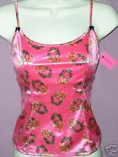 Betsey Johnson ~ HOT PINK FLORAL WREATH CAMISOLE ~ Sz S
