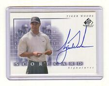 """2002 UPPER DECK SP GAME USED GOLF #SS-TW TIGER WOODS """"SCORECARD"""" AUTOGRAPH AUTO"""