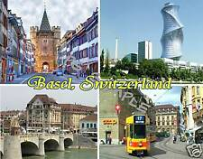 Switzerland - BASEL - Travel Souvenir Flexible Fridge Magnet