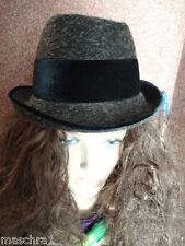 vintage Trachten Hut *Mayser *chapeau*hat*sombrero* Damenhut *braun* 55/ 56