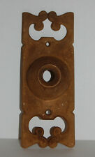 Cast Brass Door Bell Plate Art Nouveau Craftsman Victorian