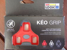 LOOK Keo Grip 9° Float Red Road Bike Pedal Cleats *New*