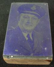 Photo Printers Block Etched Photo Named Canadian Military Officer Egglestone