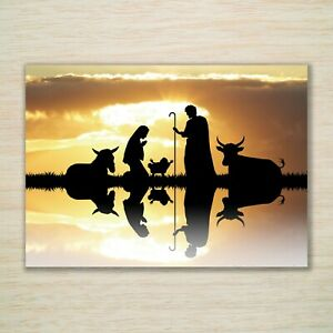 Religious Christmas Cards & Packs - Nativity Mary Joseph Jesus - Reflections