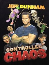 Jeff Dunham Controlled Chaos Tour Comedy Comedian Large Used T Shirt Graphic Tee