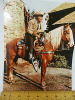 Roy Rogers On Trigger His Horse  8x10 Cowboy Photo Color   (36)