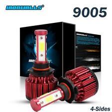 9005 H10 4 Sides LED Headlight for Chevrolet Silverado 3500 HD 07-2018 High Beam
