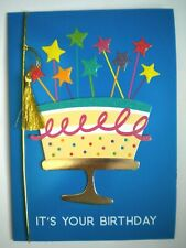 "C.R.GIBSON ~ GLITTERY ""IT'S YOUR BIRTHDAY"" GREETING CARD + ENVELOPE"