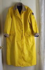 Ralph Lauren -Sz M RARE 92 Cookie Patch Rain Sailing Long Yellow Coat Jacket