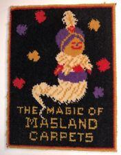 Masland Magic Carpet Rider Genie Vintage Sign 1930s Made Of Carpet Unique