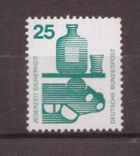 1971 Bottes mi. 697 a ra 25 pf. avec noir gauche 110 ** tamponné