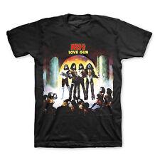 KISS Love Gun Album Cover T-Shirt New Authentic Rock Ace Frehley Shock Me S-2XL
