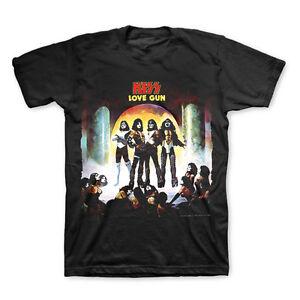 KISS T-Shirt Love Gun Album Cover New Authentic Rock Ace Frehley Shock Me S-2XL