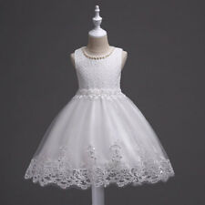 kids Girl Baby Bridesmaid Wedding Princess Lace Dress Flower Party Pageant Prom