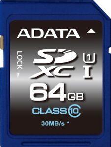 Adata Premier SDXC Karte 64GB Class10 UHS - I ASDX64GUICL10-R