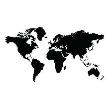 1pcs Large Map Of The World Vinyl Wall sticker decal quotes Black