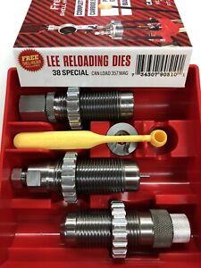 LEE Carbide 3 Die Set 38 Special 357 Magnum New in Box #90510