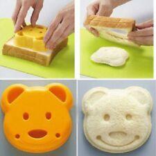 Little Bear Shape Sandwich Bread Cake Mold Maker Cutter Craft Random Color