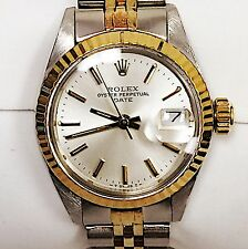 LADIES ROLEX 18K KARAT YELLOW GOLD & STAINLESS OYSTER PERPETUAL DATE WATCH