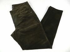 WOMANS PANTS = JAG brown corduroy pull on fitted stretch pants = SIZE 14 = KN69