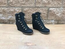 NWOT/B Sorel Conquest Wedge Bootie , Black Leather , Size Variation