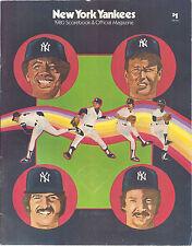 1980 New York Yankees Baseball Official Scorebook & Program