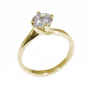 Engagement Ring 1ct Solitaire Diamond Unique 9ct Gold UK Hallmarked