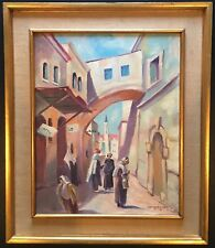 """Via Dolorosa"" Christ's way suffering  orig oil by Listed Artist Sig Gruenwald"