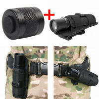 2X Rotatable Flashlight Holster Pouch+Flashlight Switch Tailcap for SureFire 6P