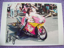 "Autographed Angelle Samprey NHRA Picture 8.5"" x 12"" Taken from Camera"