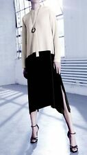MAX MARA Abito nero e avorio seta 100% /  dress black and ivory silk  New! 40 IT