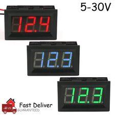 Led Digital Display Voltmeter Car Motorcycle Voltage Gauge Panel Meter 12v24v