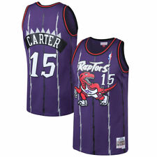 Toronto Raptors Vince Carter Mitchell Ness Purple Hardwood Classic Jersey Large