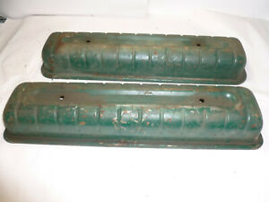 Oldsmobile 303 324 Ribbed Valve Covers 1949-56 Rocket V8 Super 88 89  OEM
