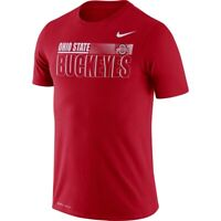 New Men's Nike Ohio State Buckeyes Football Dri-Fit Shirt Large Red CT7268-657