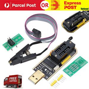 CH341A Burner Chip USB Programmer Writer SOP Clip Adapter EEPROM BIOS FLASH AU