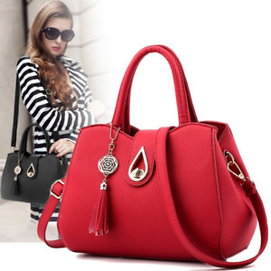 Women Faux Leather Shoulder Bag Tote Purse Handbags Messenger Crossbody Satchel