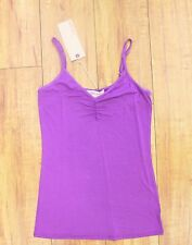 NWT Solow Women's Shirred Front Cami in Purple Size MEDIUM M
