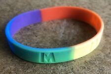 Rainbow Rubber Wristband M Initial