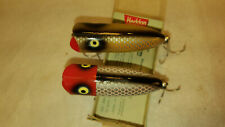 """2 Heddon Baby Lucky 13 Fishing Lures Minty! 3"""" Great Size! one in Cobra box"""