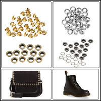 8mm Eyelet with Washer Grommet Leather DIY Craft Repair Purses Belt Shoes 100pcs