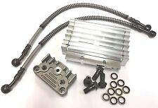 NEW PERFORMANCE RACING OIL COOLER SET FOR DIRT BIKE PIT BIKE MONKEY BIKE W/ PIPE